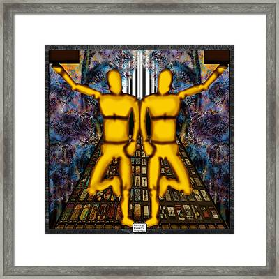 The World In Cards Framed Print by Eloy Tamez olguin