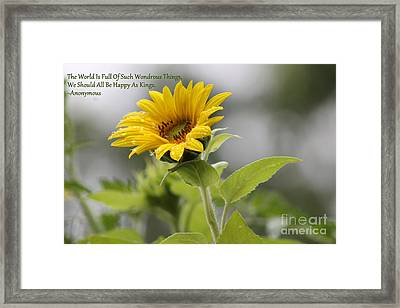 The World Is Full Framed Print by Leone Lund