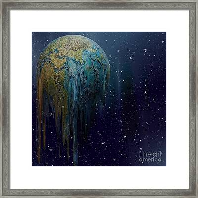 The World Is Melting Framed Print by Liane Wright