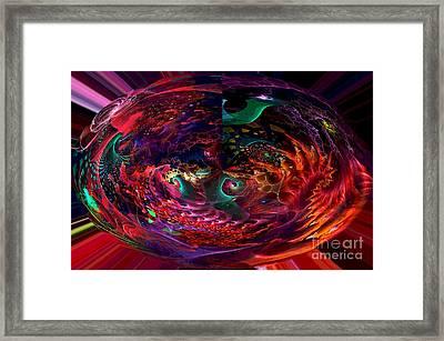 Colorful Orb Framed Print