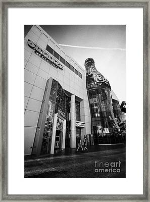 the world of coca-cola store on Las Vegas boulevard Nevada USA Framed Print by Joe Fox