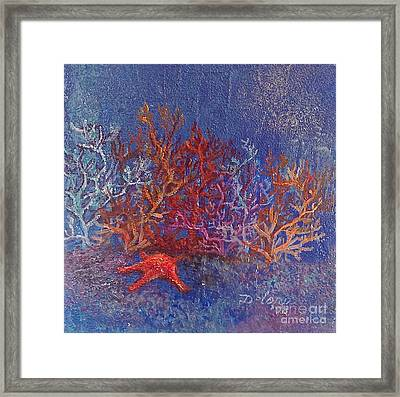 Framed Print featuring the painting The World Of Coral by Delona Seserman