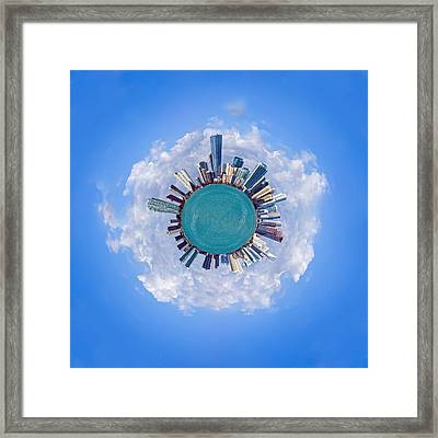 Framed Print featuring the photograph The World Of Miami by Carsten Reisinger