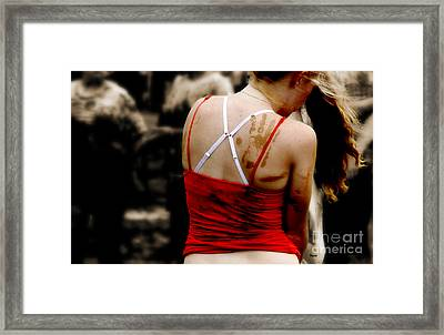 The World Of Red Framed Print by Steven Digman
