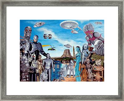 The World Of Sci Fi Framed Print by Tony Banos
