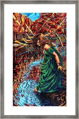 Framed Print featuring the painting The World Unseen by Greg Skrtic