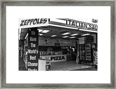 The Worlds Best Cheese Steaks Mono Framed Print