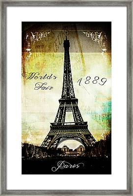 The Worlds Fair Of 1889 Framed Print by Steven  Taylor