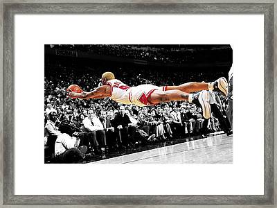 The Worm Dennis Rodman Framed Print
