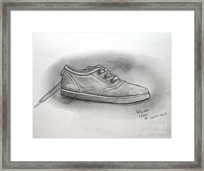 The Worn Sneaker Framed Print