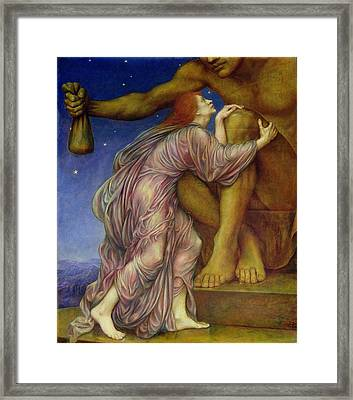 The Worship Of Mammon Framed Print by Evelyn De Morgan