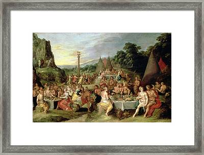 The Worship Of The Golden Calf Framed Print by Frans II the Younger Francken