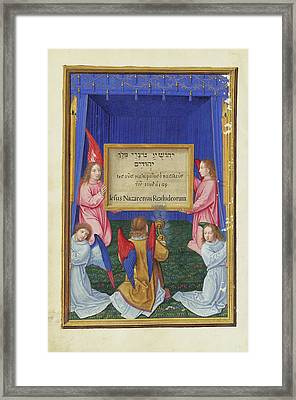The Worship Of The Inscribed Tablet From The Cross Simon Framed Print
