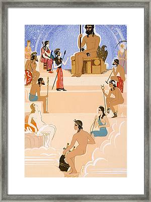 The Worship Of Zeus Framed Print by Francois-Louis Schmied