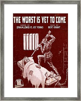 The Worst Is Yet To Come Framed Print by Mel Thompson