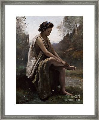 The Wounded Eurydice Framed Print by Jean Baptiste Camille Corot