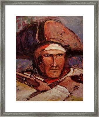The Wounded Patriot Framed Print by R W Goetting