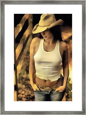 The Wrangler Framed Print by Naman Imagery