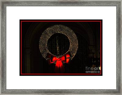 The Wreath Framed Print