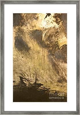 The Wreck- Mono Print Framed Print by Deborah Talbot - Kostisin