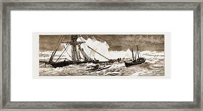 The Wreck Of The Indian Chief The Ramsgate Lifeboat Framed Print