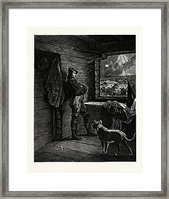 The Wreckers Christmas Framed Print by Gustave Fr?d?ric Michel (1851?1924), French
