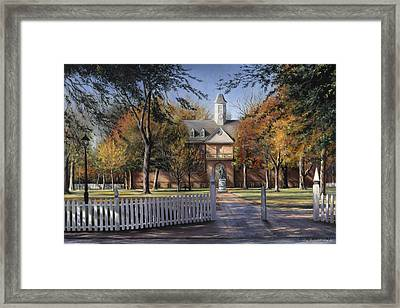 The Wren Building - College Of William And Mary Framed Print