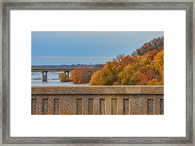 The Wright's Ferry Bridge In Fall Framed Print