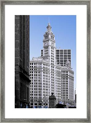 The Wrigley - A Building That Is Pure Chicago Framed Print by Christine Till
