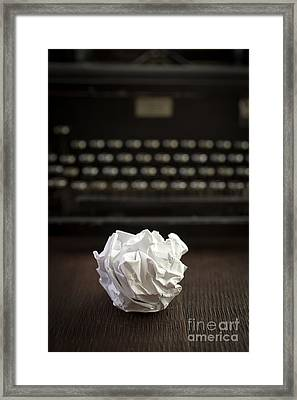 The Writer Framed Print by Edward Fielding