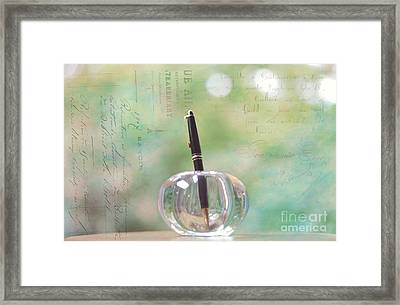 The Writer Framed Print by Kay Pickens