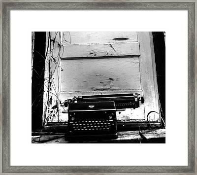 The Writer  Framed Print by Steven  Taylor