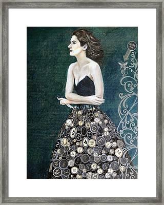 The Writer's Muse Framed Print by Enzie Shahmiri
