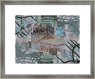 The Writing On The Wall 13 Framed Print by Tim Allen