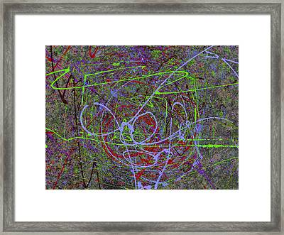 The Writing On The Wall 15 Framed Print by Tim Allen