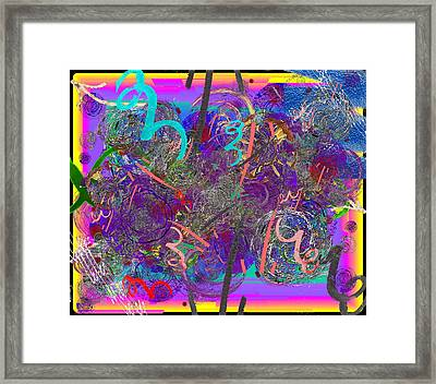 The Writing On The Wall 25 Framed Print by Tim Allen
