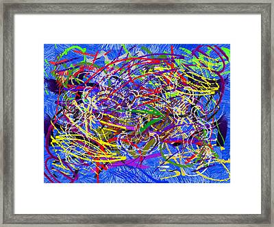 The Writing On The Wall 26 Framed Print by Tim Allen