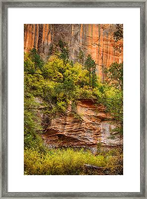 The Writing On The Wall  Framed Print by Saija  Lehtonen