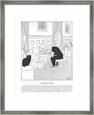 The Writing Public To The Editor Framed Print by Gluyas Williams