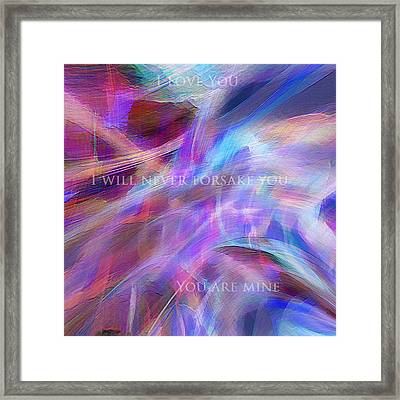 The Writing's On The Wall Framed Print by Margie Chapman