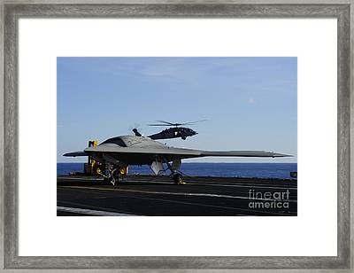 The X-47b Unmanned Combat Air System Framed Print