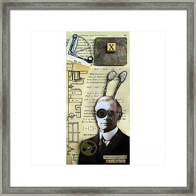 The X Factor - Inventor Framed Print by Linda Apple