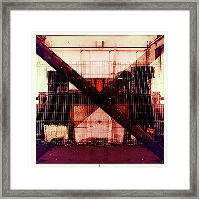 The X Framed Print by Marco Oliveira