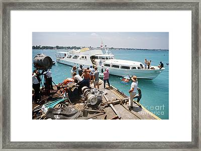 The Yacht Of Emilio Largo During Filming Of Thunderball Framed Print