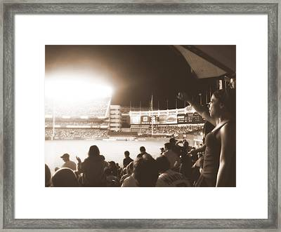 The Yanks Rally Framed Print by Aurelio Zucco