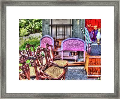The Yard Sale Framed Print