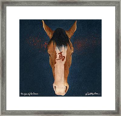 The Year Of The Horse... Framed Print by Will Bullas