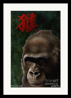 Year Of The Monkey Framed Prints