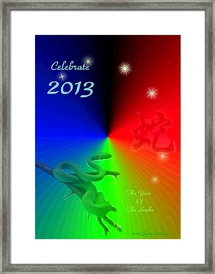 The Year Of The Snake Framed Print