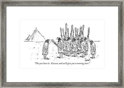 The Yeas Have It.  Censure Framed Print by Tom Cheney